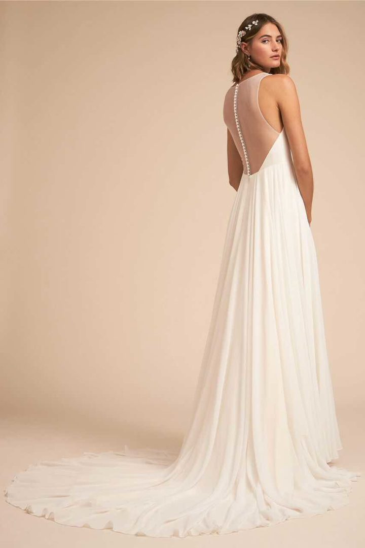 Bhldn 2018 spring wedding dresses you don 39 t want to miss for Wedding dress with buttons all the way down