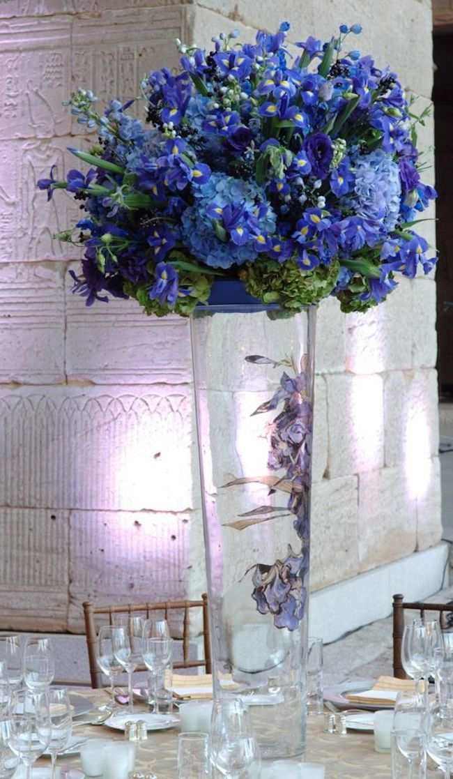 Elegant shades of blue wedding centerpiece ideas crazyforus