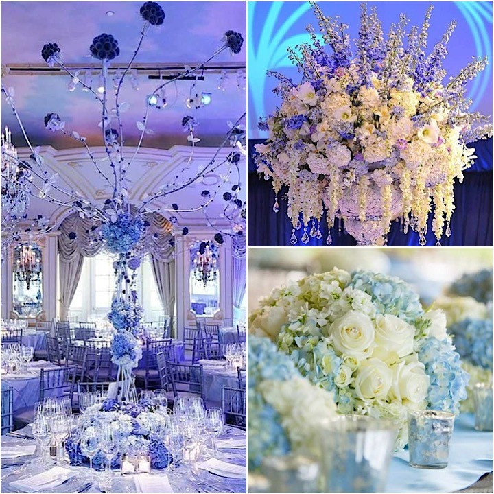 blue wedding decoration ideas.  Elegant Shades Of Blue Wedding Centerpiece Ideas crazyforus