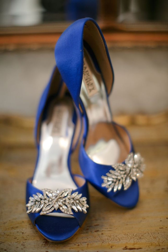Blue wedding ideas with beautiful charm modwedding for Blue shoes for wedding dress