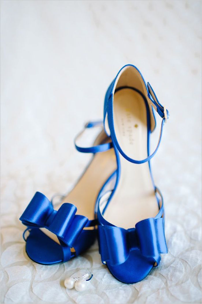 Electric Blue Bridal Shoes