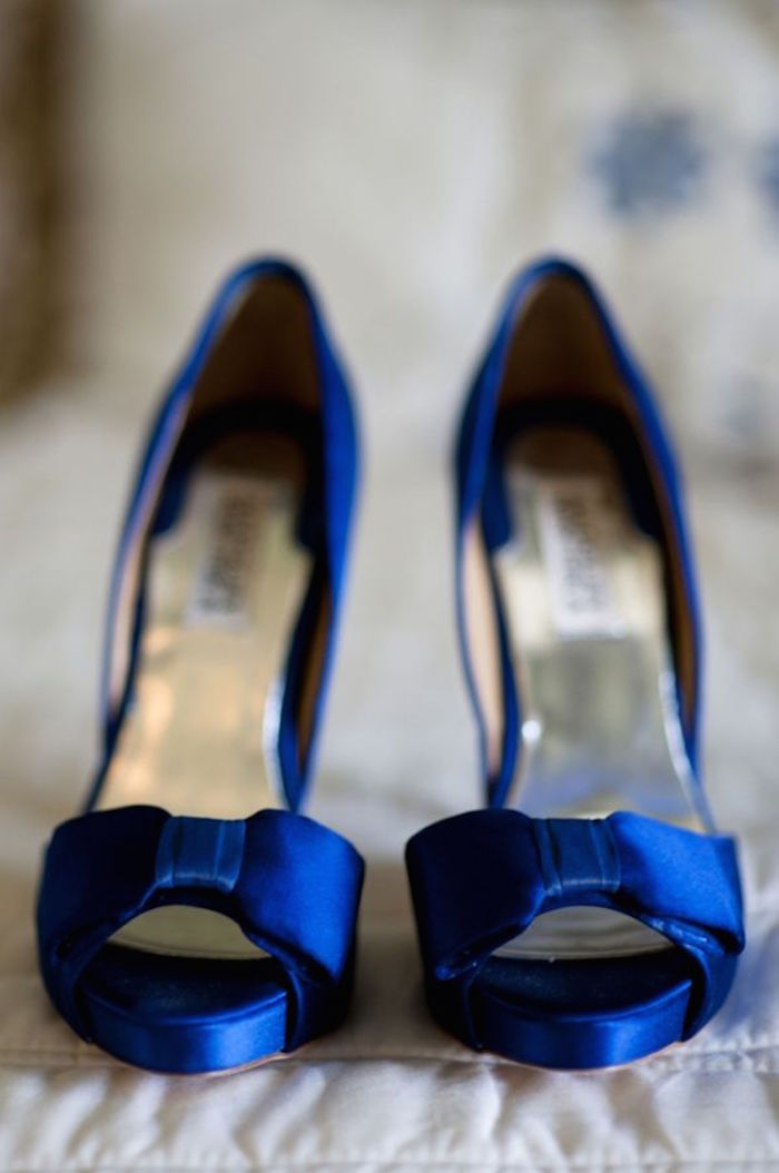 Blue wedding shoes that dazzle modwedding blue wedding shoes 5 08272015 km junglespirit Image collections