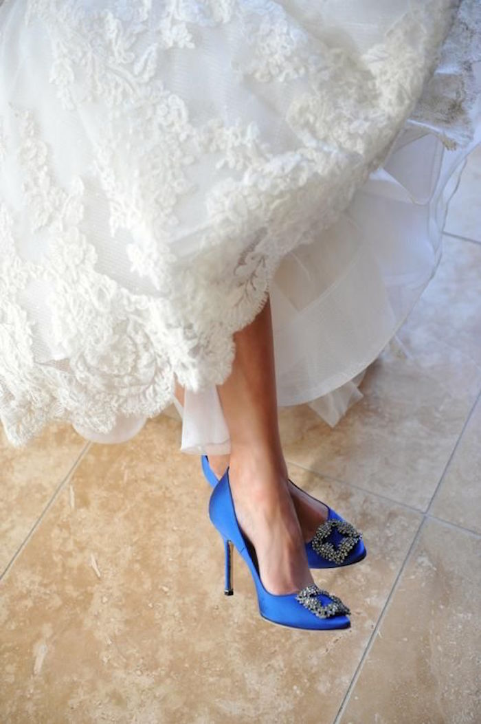 Blue Wedding Shoes That Dazzle Modwedding