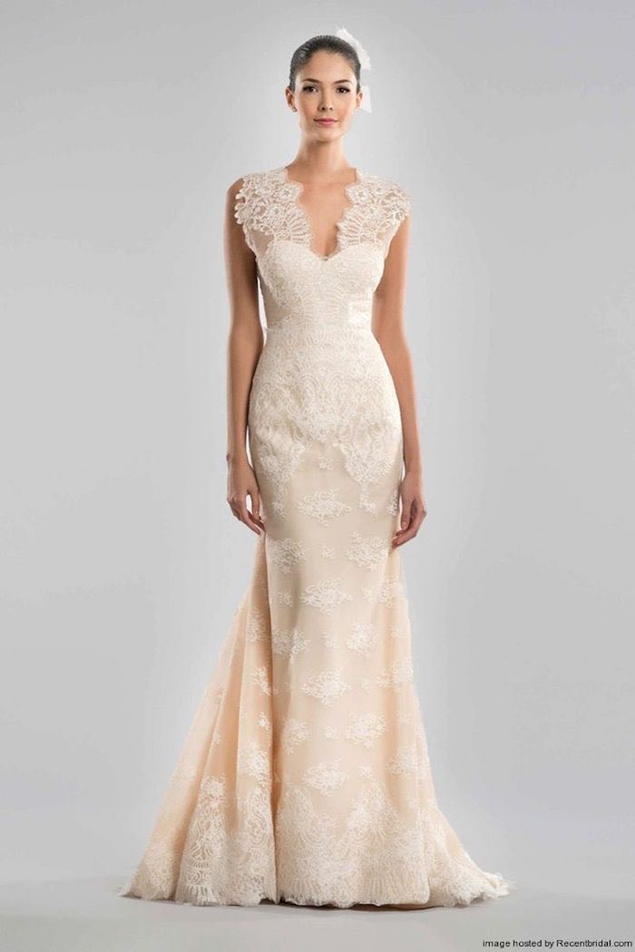 Images Of Blush Wedding Dresses : Blush wedding dresses with classic details modwedding