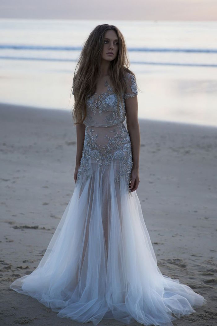 Bohemian wedding dresses for stylish brides modwedding for Bohemian white wedding dress