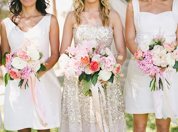 Gold California Wedding with Southern Charm