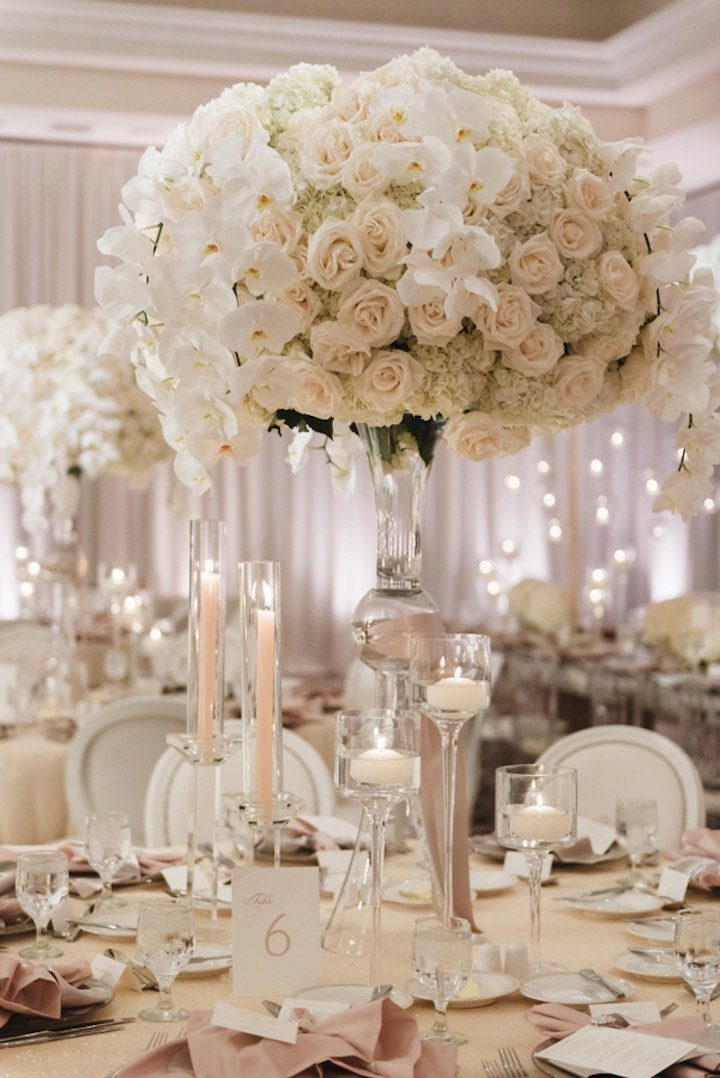All white glamour in california wedding modwedding for All white wedding theme pictures