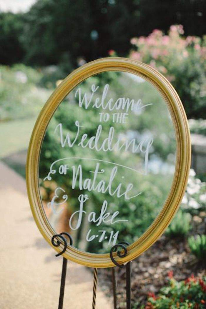 Creative calligraphy wedding signs modwedding calligraphy wedding sign 8 090315ch junglespirit Images