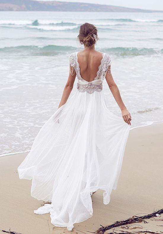 Casual beach wedding dresses to stay cool modwedding for Ocean themed wedding dress
