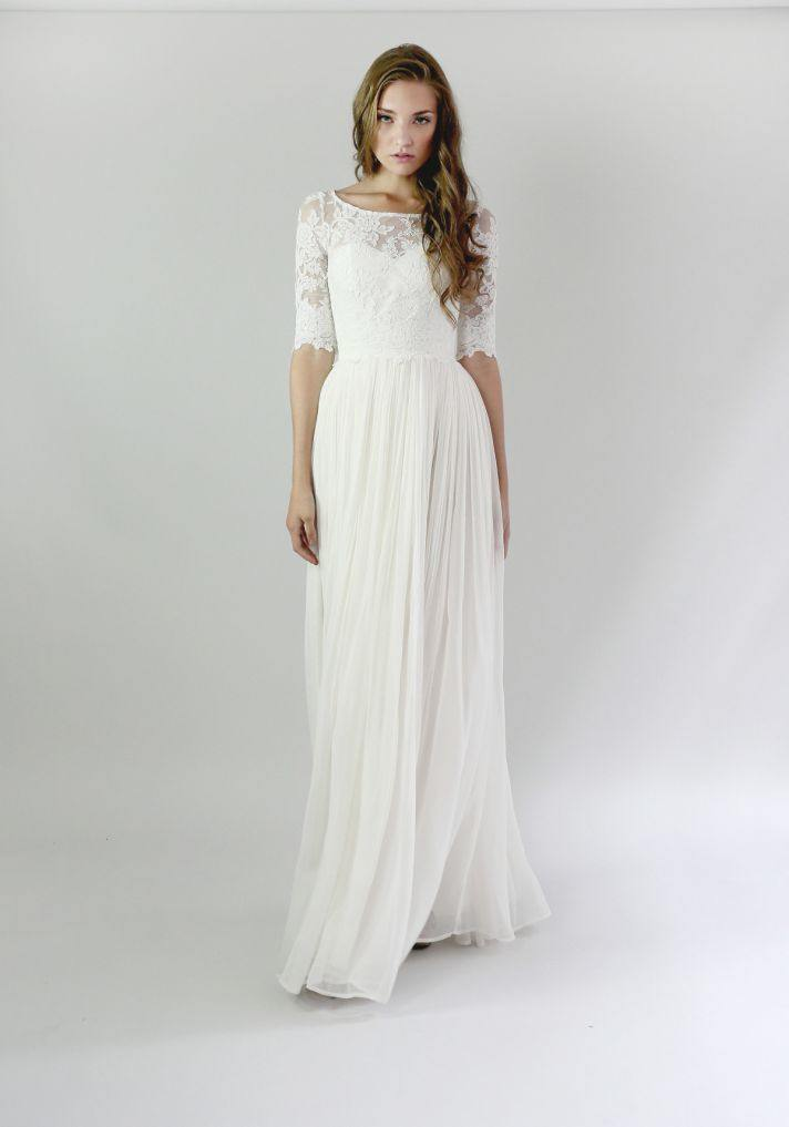 Casual wedding dresses for the minimalist modwedding for Long sleeve casual wedding dresses