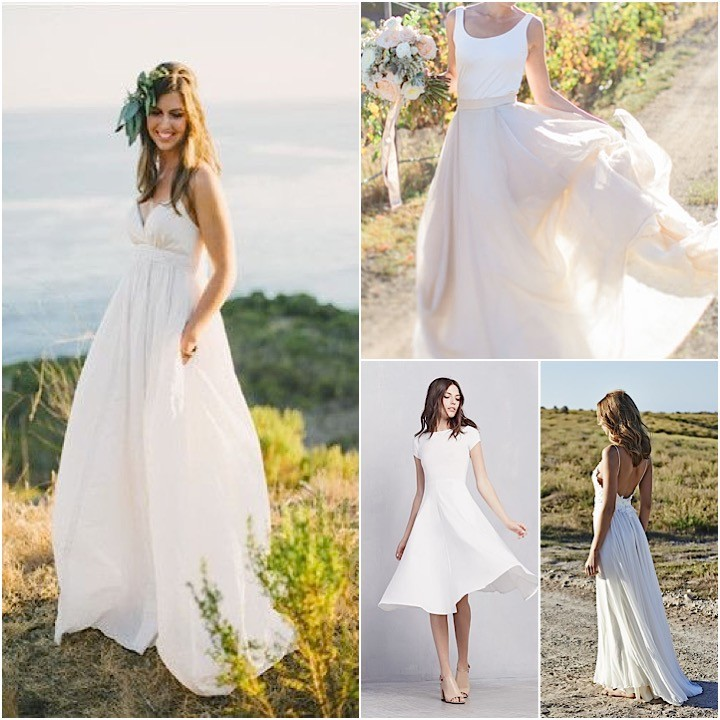 Casual Wedding Dresses Collage 081815mc