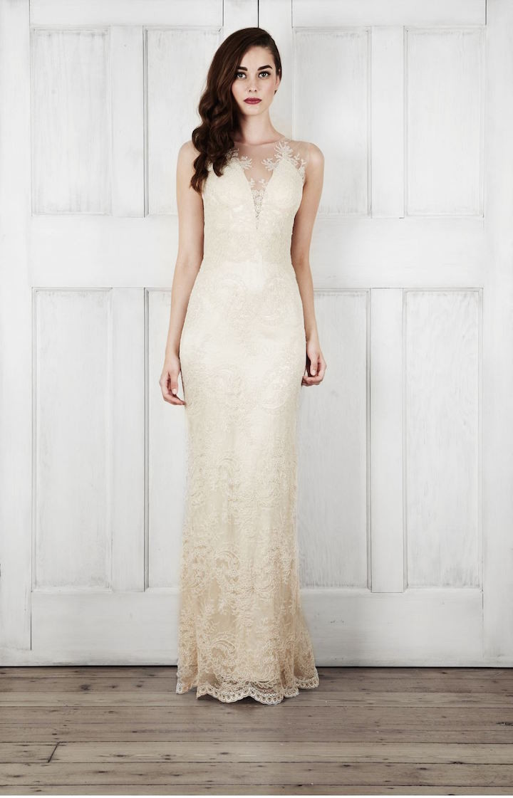 Cream colored wedding dresses dress images for Cream colored lace wedding dresses