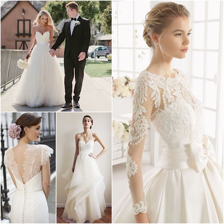 Unique lace vintage wedding dresses