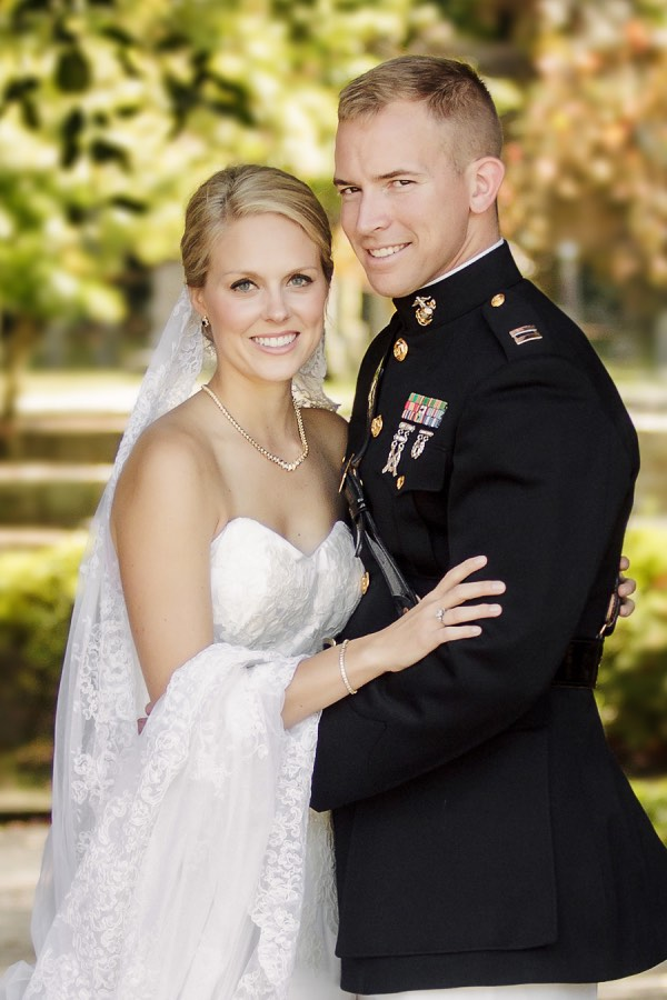 Classic pink military connecticut wedding modwedding for Free wedding dresses for military brides