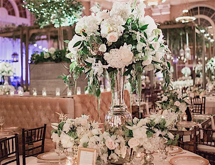 Dallas wedding with glam indoor garden style modwedding junglespirit Image collections