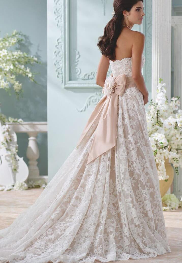 2016 david tutera for mon cheri wedding dresses modwedding for Wedding dress david bridal