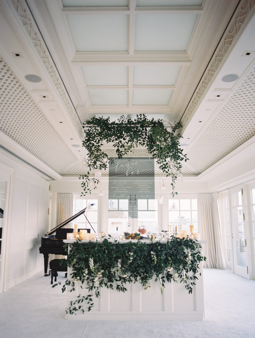 Ceiling Greenery Steals This Modern Dc Wedding At The Hay