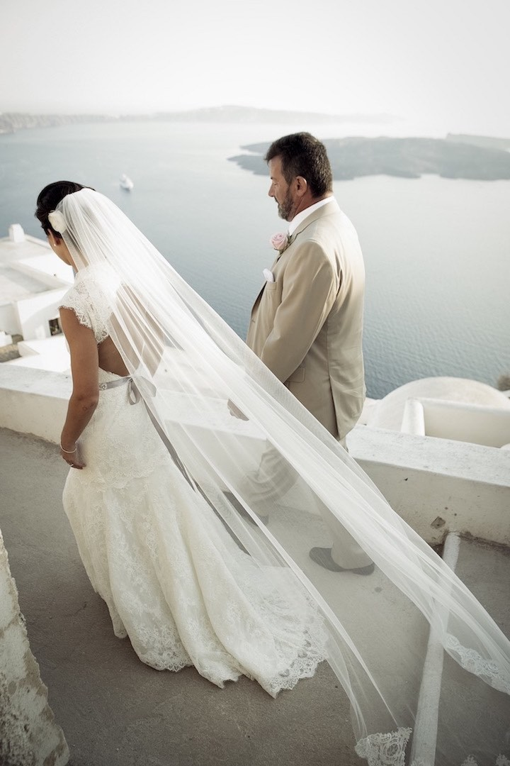 Pristine Santorini Destination Wedding Modwedding