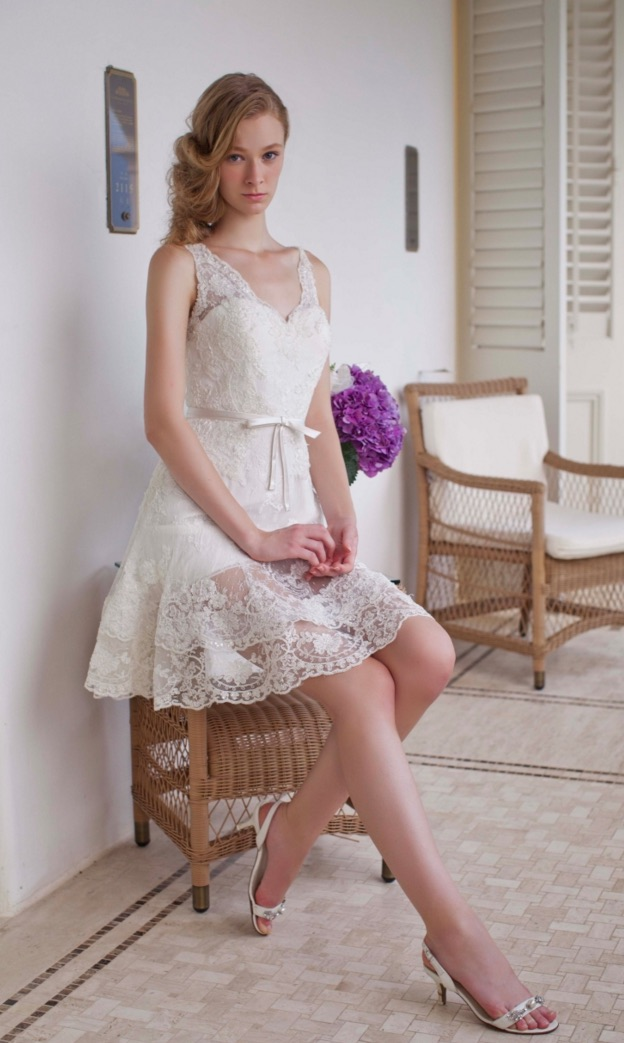 elegant short wedding gowns