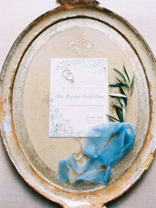 Blue Detailed Al Fresco Fall Wedding in California from Carmen Santorelli Photography