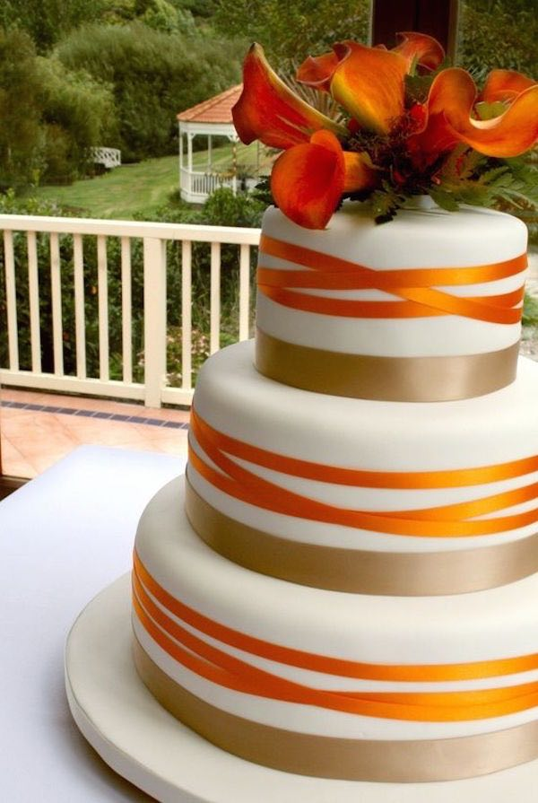Burnt Orange Wedding Cakes - Wedding Cake Flavors