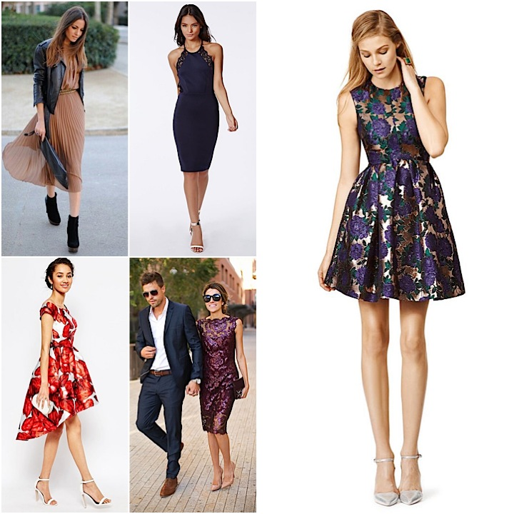 Fall Wedding Guest Dresses Collage Feature