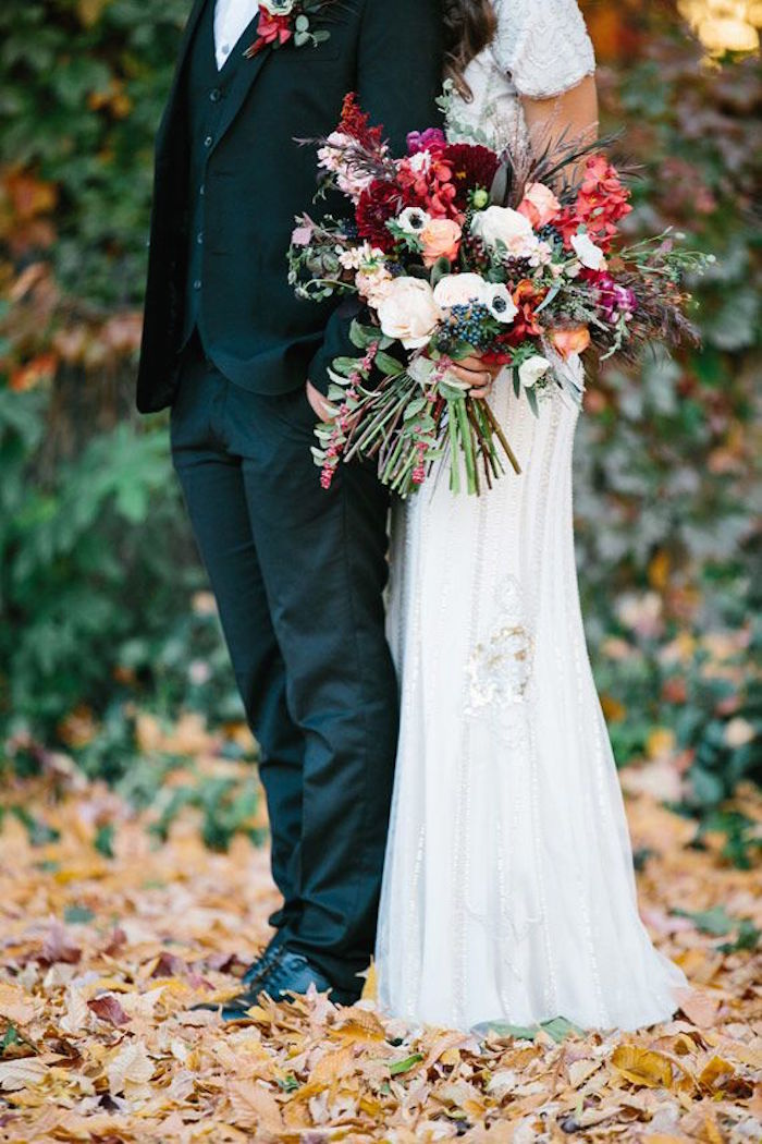 wedding picture ideas for fall - Fall Wedding Ideas with Luxe Rustic Style MODwedding