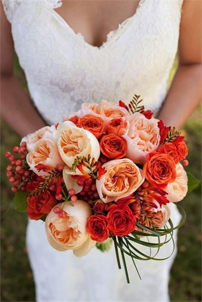 fall wedding bouquets fall wedding colors with lush details modwedding 4020
