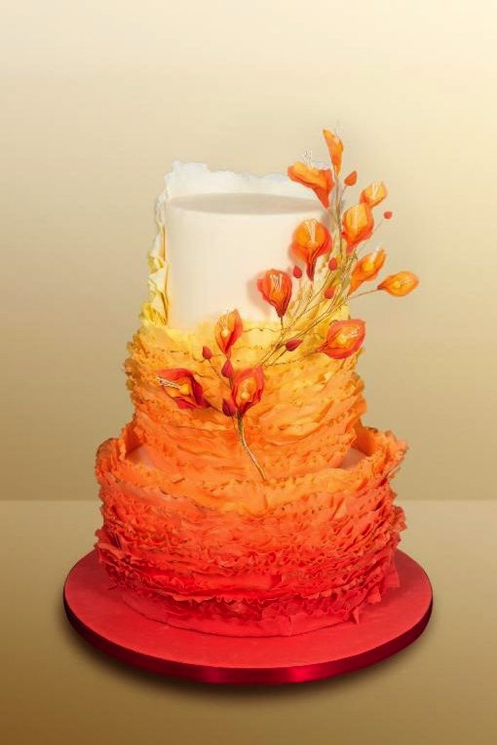 wedding cake fall colors fall wedding colors with lush details modwedding 22591