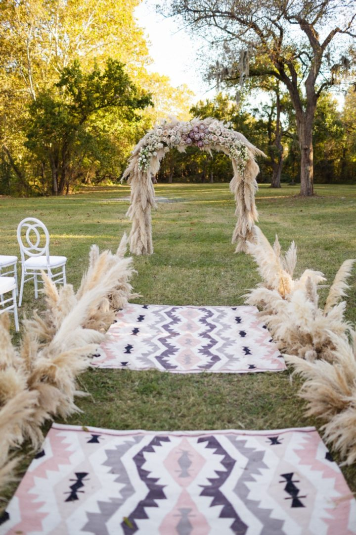 Unique Bohemian Texas Wedding With Colorful Details From