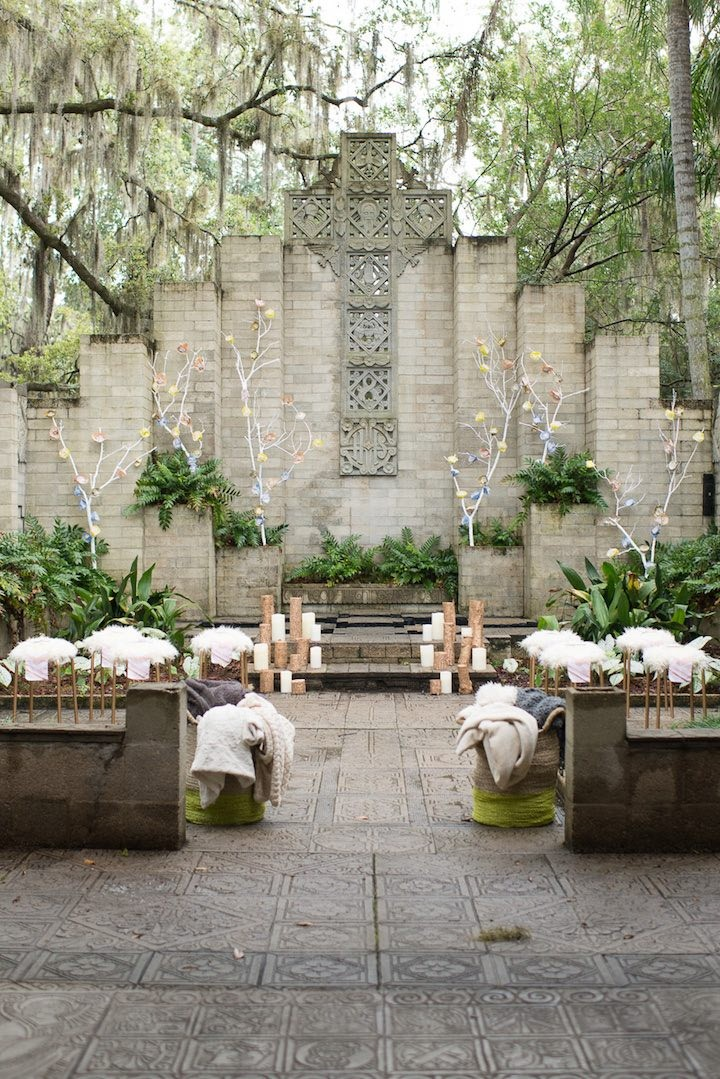 Whimsical pastel florida wedding inspiration modwedding for Best venues for small weddings