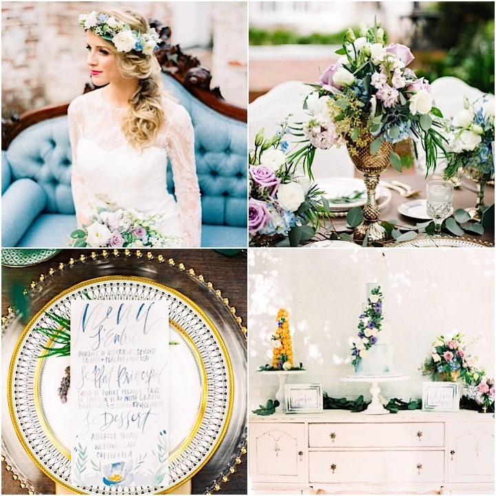 Dusty Blue And Lavender French Wedding Inspired Shoot Modwedding