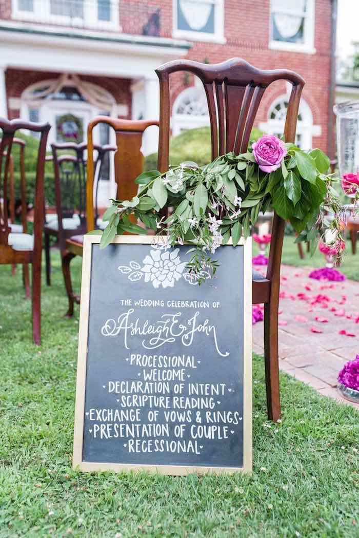 Elegant garden wedding ceremony ideas modwedding featured photographer jamie lauren photography garden wedding 6 091815ch workwithnaturefo