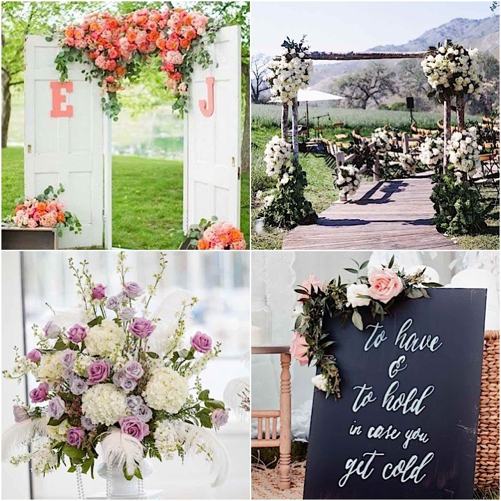 Garden wedding collage 091815mc - Garden wedding decorations pictures ...