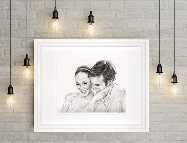 Giveaway: Hand Drawn Custom Portrait From Grace Portraits