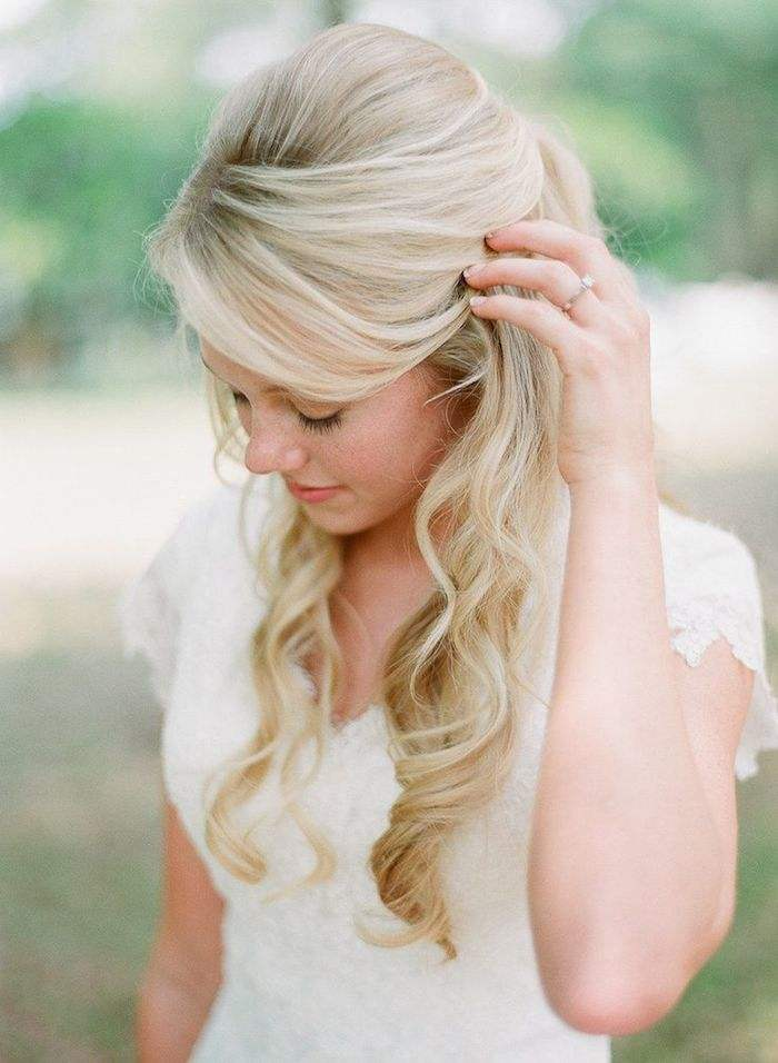 Incredible Half Up Half Down Wedding Hairstyles Modwedding Hairstyle Inspiration Daily Dogsangcom