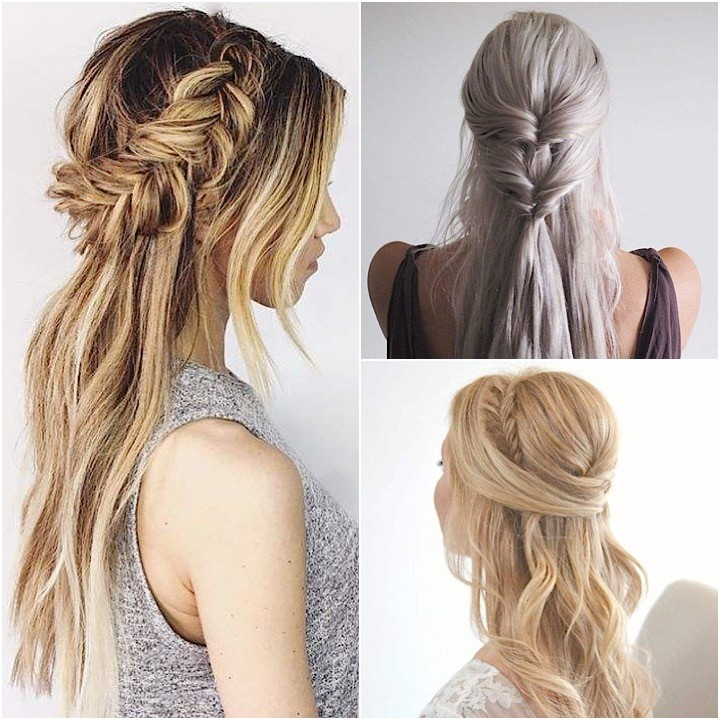 Wedding Hairstyles For Long Hair Half Up Down Straight