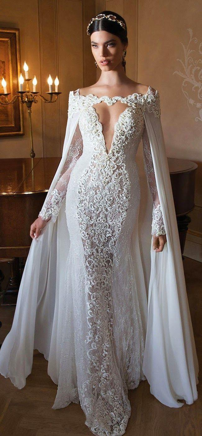 Stunning long sleeve wedding dresses modwedding for Long sleeve indian wedding dresses