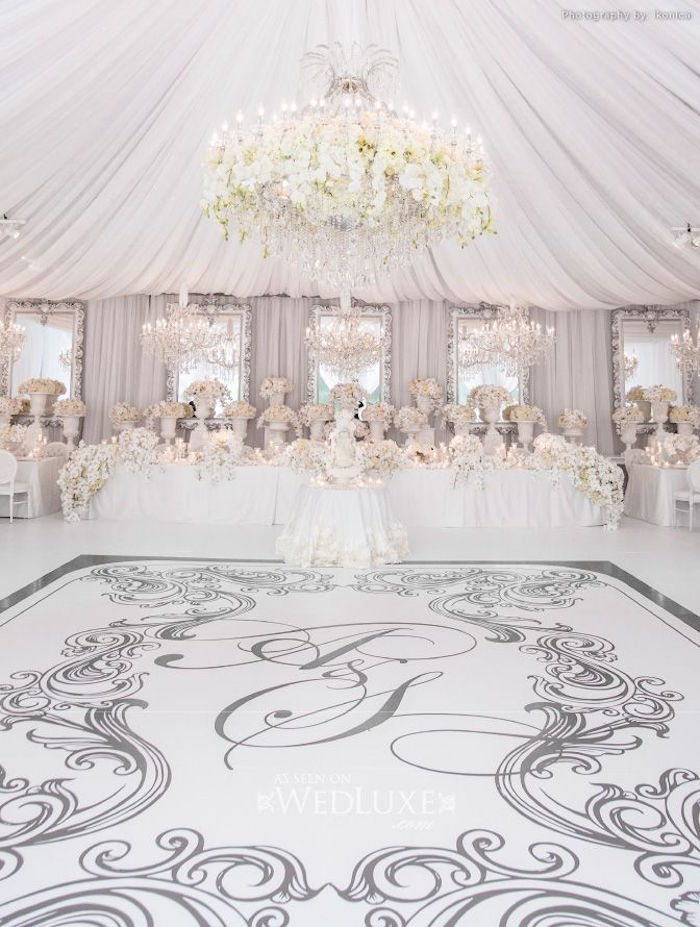 Tent weddings and drapes with luxe style modwedding for All white wedding decoration ideas