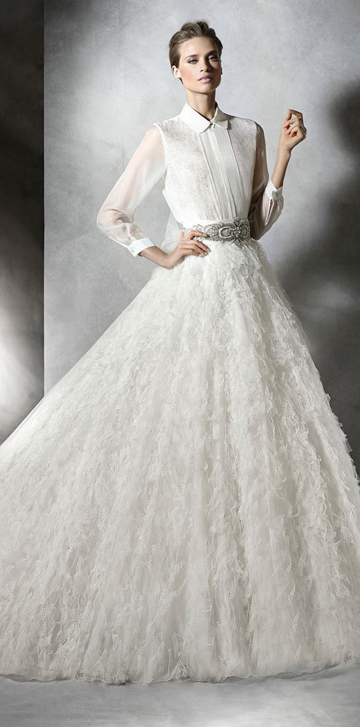 Modest wedding dresses with pretty details modwedding for Modest wedding dresses under 500