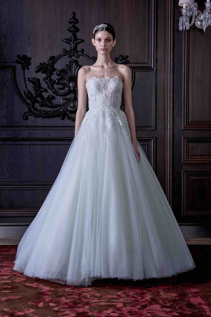 Monique lhuillier wedding dresses 2016 modwedding for Wedding dress with lights