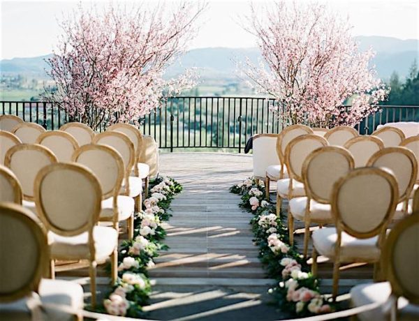 Stylish Napa Valley Wedding with Cherry Blossoms