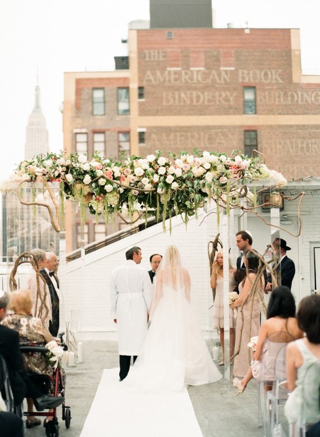 Pristine New York City Wedding At Studio 450 Modwedding