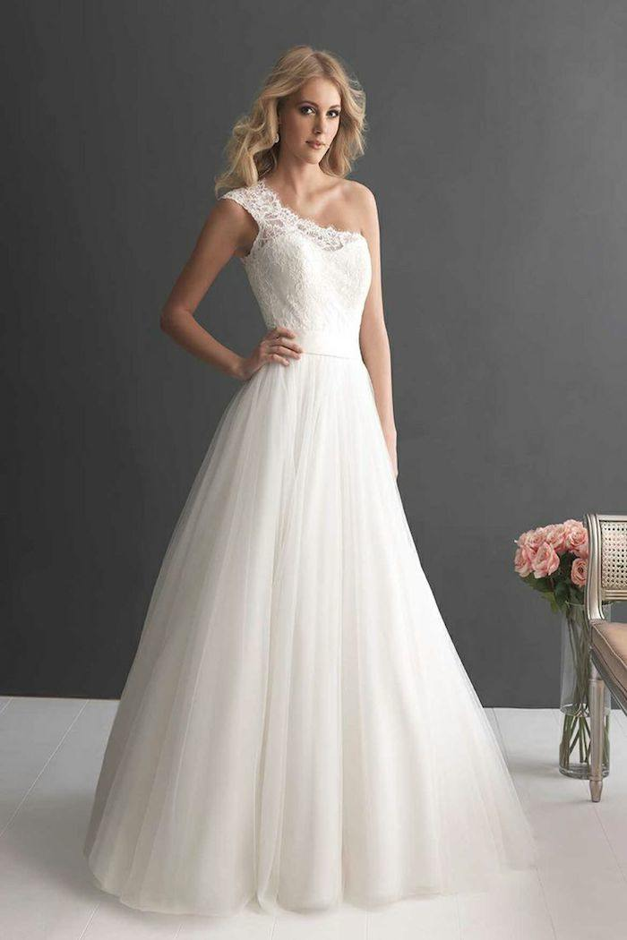 Stylish One Shoulder Wedding Dresses MODwedding