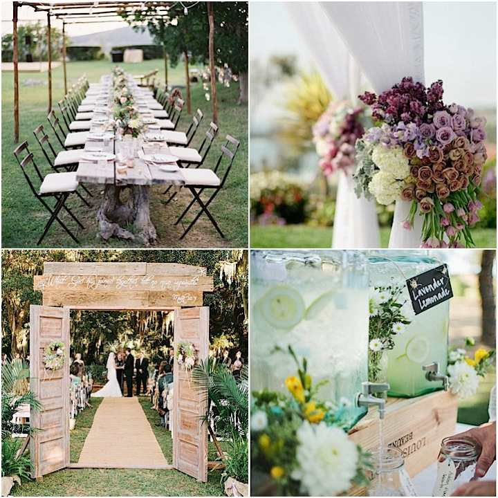 Outdoor wedding ideas that are easy to love modwedding for Simple wedding decorations for reception