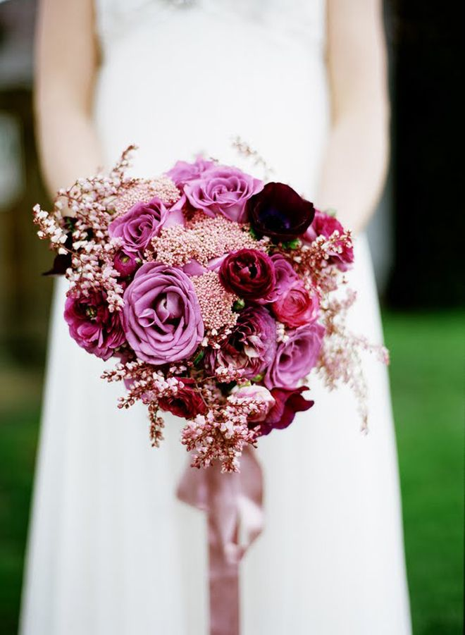Purple wedding bouquets with pretty details modwedding purple wedding bouquets 15 10122015 km mightylinksfo