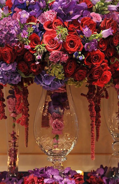 Fall Wedding Centerpiece Ideas Purple Centerpieces With Glamour Modwedding