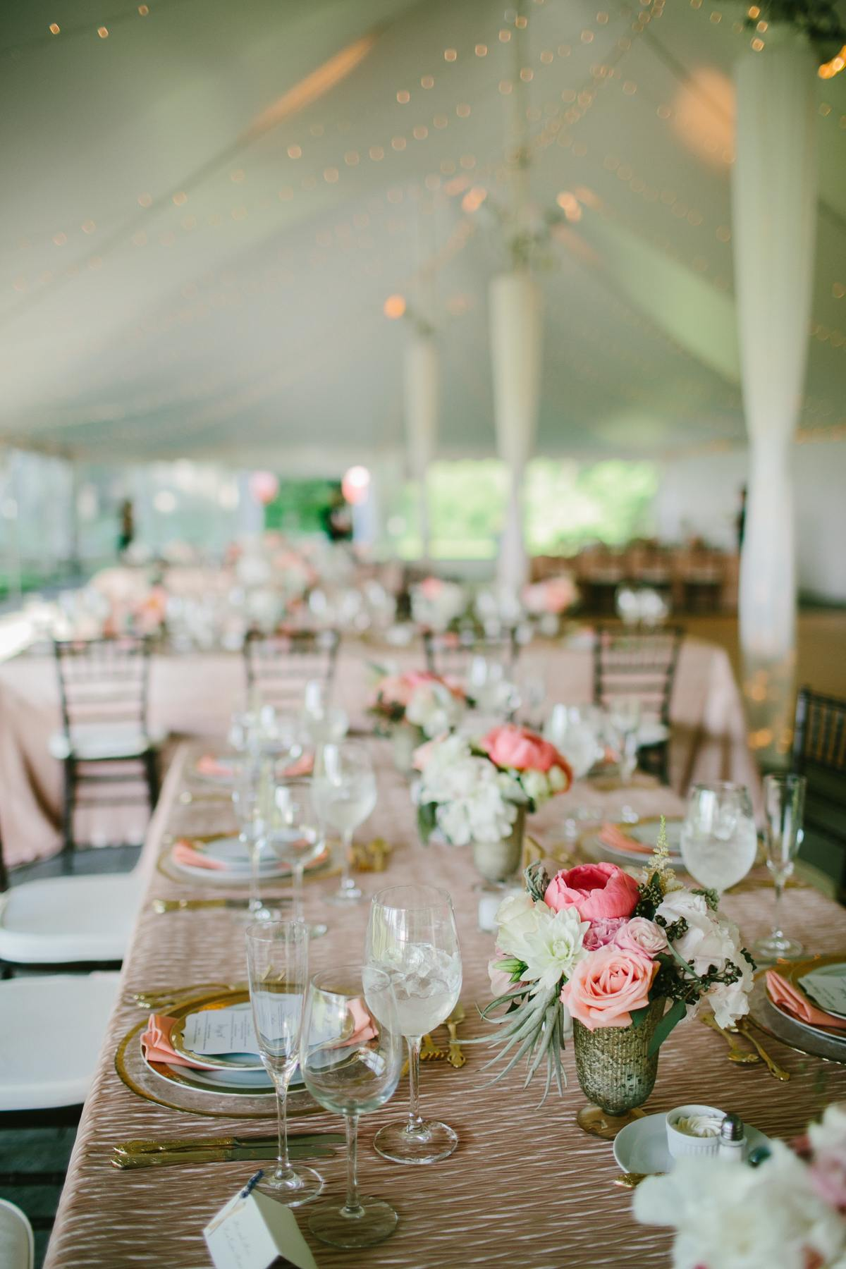 Classic Pink Rhode Island Wedding At Blithewold Mansion