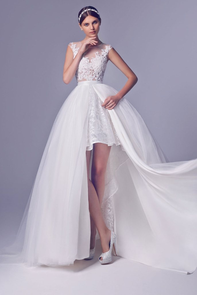 Rico a mona wedding dresses modwedding for Wedding dress for a short bride