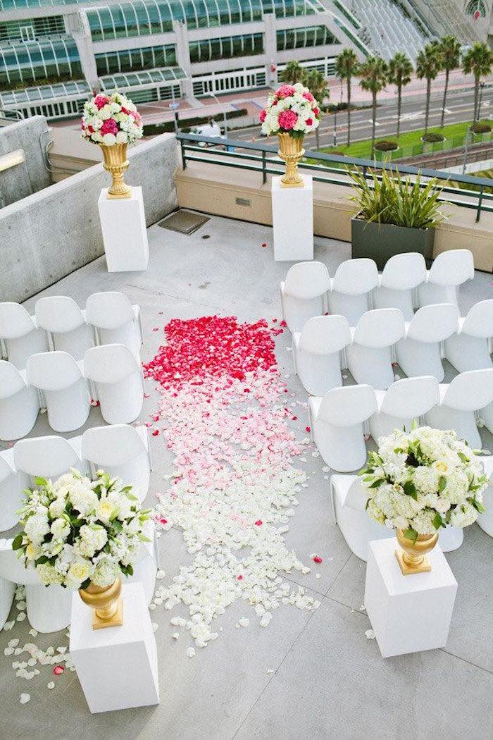 Rooftop wedding ideas with style modwedding for Decoracion de bodas sencillas y economicas en casa
